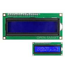 OPEN-SMART 3.3V I2C / IIC LCD 1602 Blue Display Module Onboard Contrast Adjustment Potentiometer for Arduino / Raspberry Pi(China)