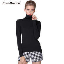 Free Ostrich Sweater Women High Quality Turtleneck Pullover Winter Tops Solid Sweater Autumn Female Sweater Hot Sale(China)
