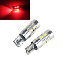 2xT10 10-SMD 5630 White Blue red LED for W5W 194 168 2825 Car Side Wedge Light Automotive T10 LED Light Bulbs Replacement Parts