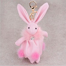 Free shipping! Han edition hit new winter plush leather key chain car baby rabbit is pendant accessories manufacturers selling
