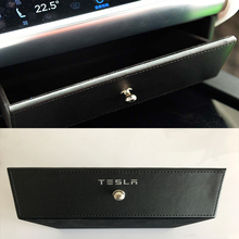 Leather Car interior store content box Glasses box Car Accessories For Tesla Model S Model X 2015 2016