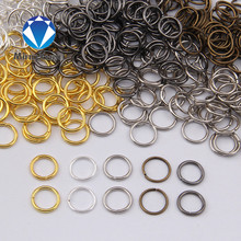 MINGXUAN 4-10mm Dia 200pcs/bag Wholesale Gunblack/Antique Bronze/Gold/Silver/Rhodium Color Jump Rings Jewelry Making Findings(China)