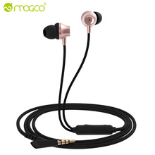 MOGCO Wired In-ear Earphone Heavy Metal Rock Music Hifi Stereo Sound Subwoofer Earphone With Microphone Earpiece For iPhone 6 5