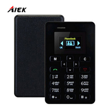 New Ultra Thin AIEK M5 Card Phone 4.5mm Mini Pocket Mobile AEKU Credit Card Slim Phone Russian Arabic or English Keyboard