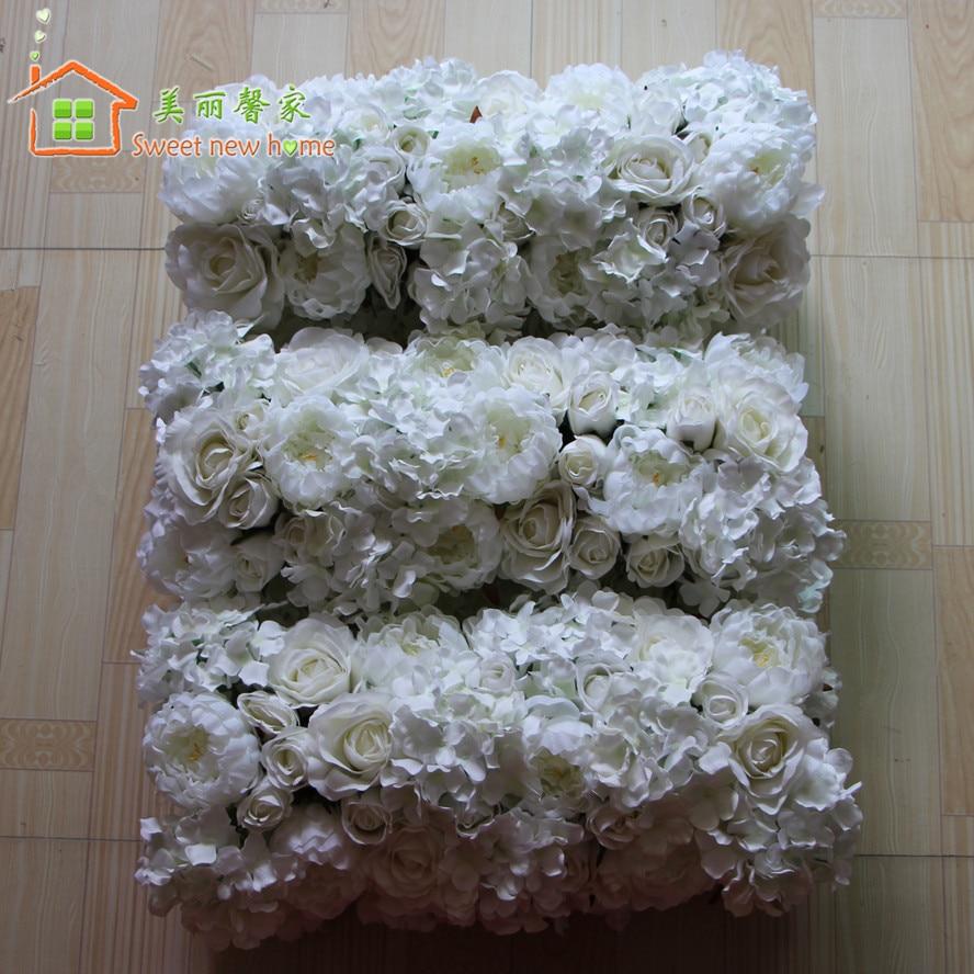 Aliexpress Buy Artificial Flower Table Runner Rose Hydrangea
