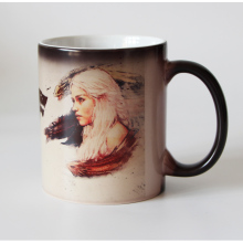 New design Game Of Thrones Dragon girl  and devil Coffee mug Heat Color changing magic mugs Tea cups winter is coming now