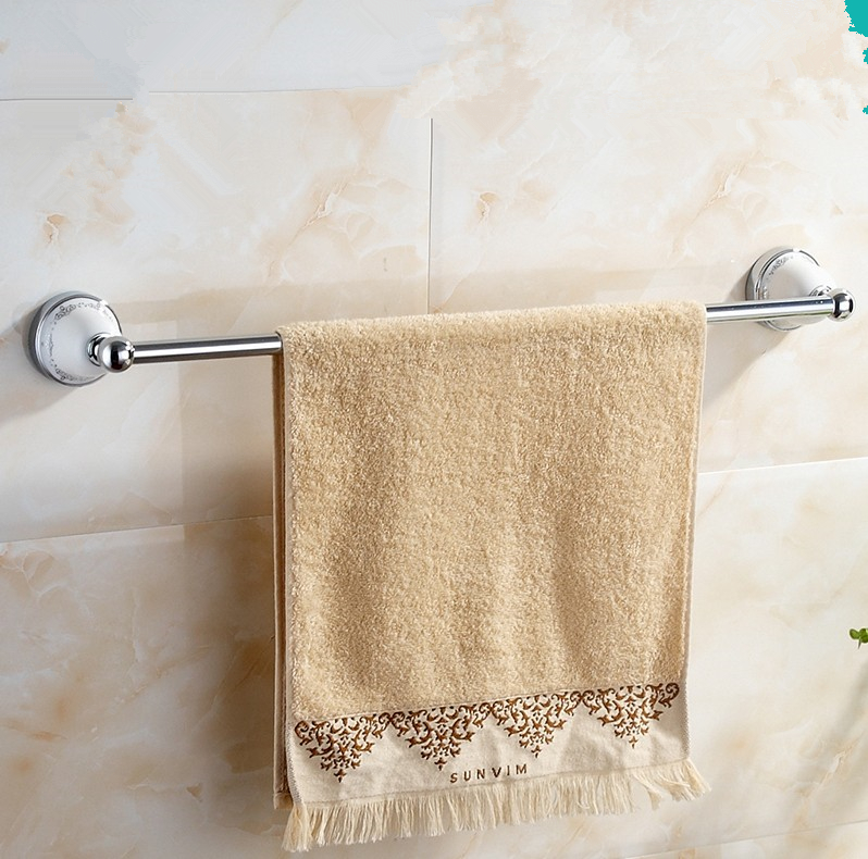 2016 Bathroom Accessories,  Modern Style Chrome Finish Single Towel Bar&amp;Towel Rack/Unique Beief Style  With ceramic  Design<br>