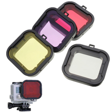 Top Quality 4PCS Underwater Diving Filter Lens Cover UV Filter for GoPro Hero 4 3+ Housing Case Free Shipping