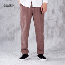 Men Cotton Linen Casual Pant High Quality Straight Loose Comfortable Harem Pant Long Trousers Jogger Sweatpants(China)