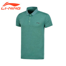 Li-Ning Professional Men's Running Training Polo T-shirts AT DRY Breathable Short Sleeve Shirts LiNing Sports Tee Tops APLM137