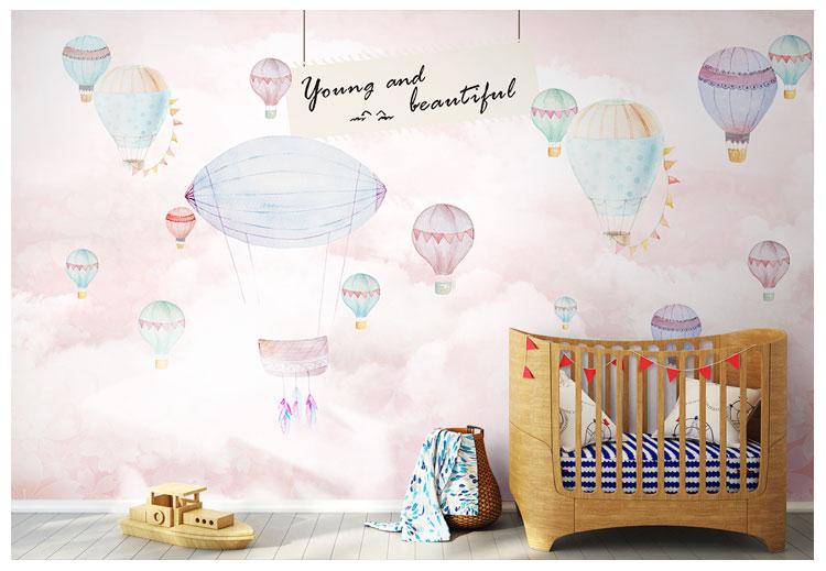 HTB1XkUeqbSYBuNjSspfq6AZCpXah - Pink Sky Cloud 3d Cartoon Wallpaper Murals for Girls Room