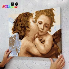 cartoon Angel Picture Frameless Painting By Numbers DIY Digital Canvas Oil Painting Wall Art For Living Room Wedding Decor