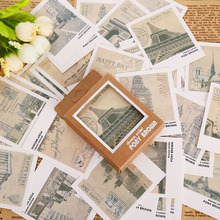 40 pcs/box retro europe landscape mini message card festival greeting card kids gift school supplies