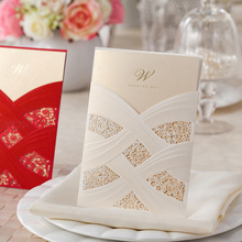 1pcs Sample Laser Cut Wedding Invitations Card Convite De Casamento Invitation Card Event & Party Supplies Mariage CW060
