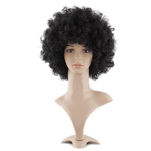 Big hair Synthetic Hair Afro Holiday Explosive Head Black Short Curly Wigs (NWG0HD60439-BL2)