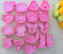 micky mini Garfield dog ect  biscuit cake mold cookie cutter 18pcs/9set
