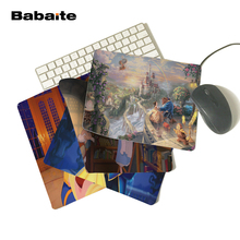 Babaite Drop Shipping Rubber Mousepad Beauty And The Beast Mousemat Cartoon Mouse Pad for Computer Mice Mat 18*22cm and 25*29cm(China)