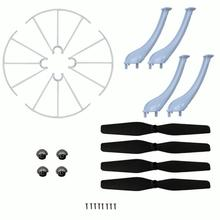 Syma X5HW X5HC Landing Skid+Blade Propeller+Propeller Protectors Spare Set RC helicopter parts Mini Drone Headless Drone Part(China)