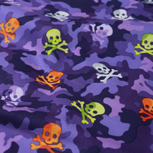140*100cm Purple Camouflage Skull printed Cloth Flat Cotton Fabric Handmade Plain DIY Patchwork Fabric Home Decor Material