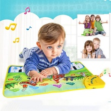 37x60cm baby musical carpet Children Play Mat baby Piano Music gift baby educational mat Electronic toys for kids(China)