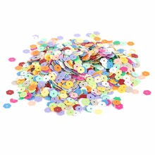New Arrival 5/6/10/15mm 350-3200pcs Mixed color Loose Sequin For Clothing Accssory DIY Craft Scrapbooking Wedding Jewelry Making(China)
