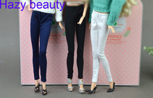 Hazy beauty accessories Blue black Casual Short Pant Trousers For Barbie 1:6 Doll BBI1025(China)