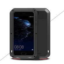 For huawei P10 /p7/ P9/p9 Plus anti-knock case, Original LOVE MEI Extreme Powerful life snowproof Dropproof Metal cover shell(China)