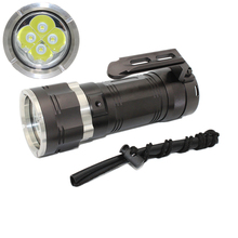 Waterproof lanterna 4x XM-L2 LED Flashlight Scuba diving flashlight built-in rechargeable battery pack Aluminum lamp white light