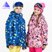 VECTOR Warm Winter Children Ski Jacket Boys Girls Skiing Snowboard Jackets Child Windproof Waterproof Outdoor Snow Coats Kids(China)