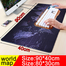 900x400 large worldmap gaming mouse pad locking edge non-slip computer player Keyboard table Mat for players(China)
