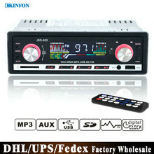 Free DHL Fedex 50pcs/lot Car Stereo FM Radio MP3 Audio Player Support Bluetooth Phone with USB/SD MMC JSD930
