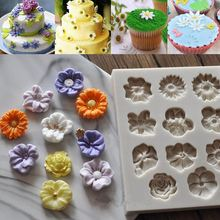 NEW DIY Daisy Rose Flowers Cake Chocolate Mold Silicone Candy Jely Pudding Mold Sugar Fondant Baking Decorating Tools Bakeware(China)