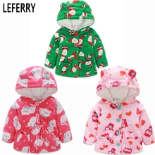 Baby Girl Clothes Coral Cashmere Kids Girls Winter Coat Children's Winter Jackets For Girls Parkas Hoodies Toddler Girl Clothing