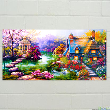 Diamond painting news dynamic DIY kit kid toy garden cabin house flower baby room living room home hotel office shop deco