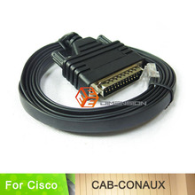6FT length network routers cable CAB-CONAUX console cable for cisco router RS232 DB25 Male to RJ45 Male