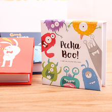 6 Pcs Daily Memos Cute Cartoon Demon Hard Copybook Mini Notepad Fitted Notebook 140 Sheets 76x68mm Deli 7703