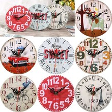 2017 Modern Design Wooden Wall Clock Vintage Rustic Shabby Chic Home Office Cafe Decoration Art Large Watch Horloge Murale