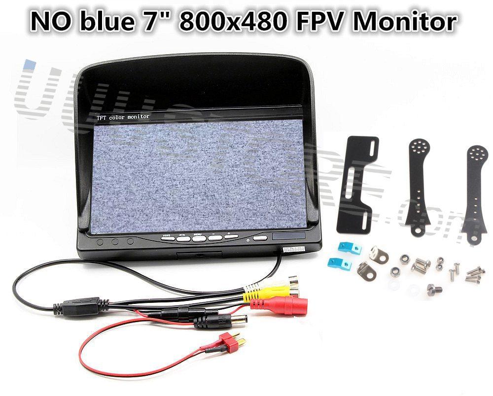 NO blue 7 FPV LCD Color 800x480 FPV Monitor Video Screen  Sunhood &amp; holder for Gopro QAV250 DJI Phantom Quadcopter<br><br>Aliexpress