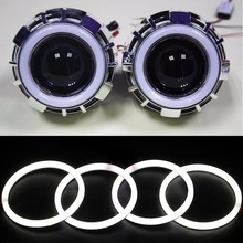 4pcs Super white 105mm 106mm E46 2D SMD Led angel eyes halo rings for BMW E46 Coupe 2D E46 Cabrio LED headlight car accessories(China)