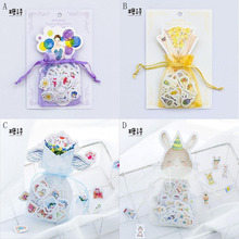 100PCS/Package Only Smell The Flowers/Forever Girl Meow/Garden/Bunnies Collection Bag Label DIY Decorative Stickers Stationery