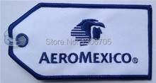 Bag Tag AeroMexico Airlines Mexico City Mexican Flight Embroidery Tag