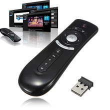 Gyroscope mini Fly Air Mouse T2 2.4G Wireless Keyboard Mouse Android Remote Control 3D Sense Motion Stick For TV Box
