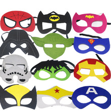 Avengers Superhero Mask Ironman Star Wars Deadpool Hulk Spiderman Batman Halloween Kids Adult Cosplay Party Mask(China)