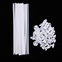 50pcs/lot of White PVC Balloon Holder Sticks with Cup Celebrations Birthday Party Wedding Decorations Accessories 32cm Long