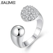 wholesale jewellery korean NEW designer 925 silver anel feminino zirconia synthetic gemstone rings R682