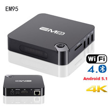 Amlogic Stream EM95 Android TV Box Media Players Amlogic S905 Quad Core Android 5.1 DDR3 Flash 1G/8G HDMI 2.0 WIFI 4K 1080p Kodi