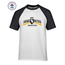 2017 New Summer Funny Tee Juventus Printed Funny Cotton t shirt for men