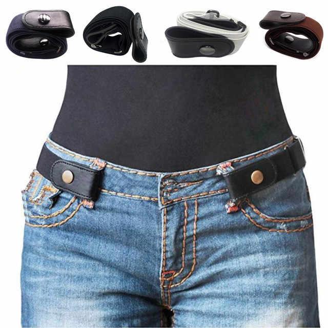Hebilla no pantalones de cinturón cintura elástico vestidos hebilla Jean cinturón para las hebilla de R4rRSUq