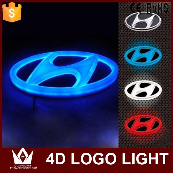 Guang Dian front Car rear Emblem light lamp 4d car badge auto led logo light EL car logo for IX35 For i30 For sonata car styling<br><br>Aliexpress