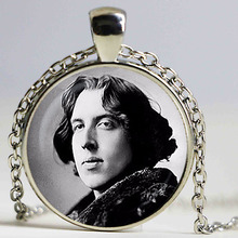 Oscar Wilde pendant. Author, writer necklace. Oscar Wilde, Famous People jewelry, birthday gift.,christmas gift,sliver plated